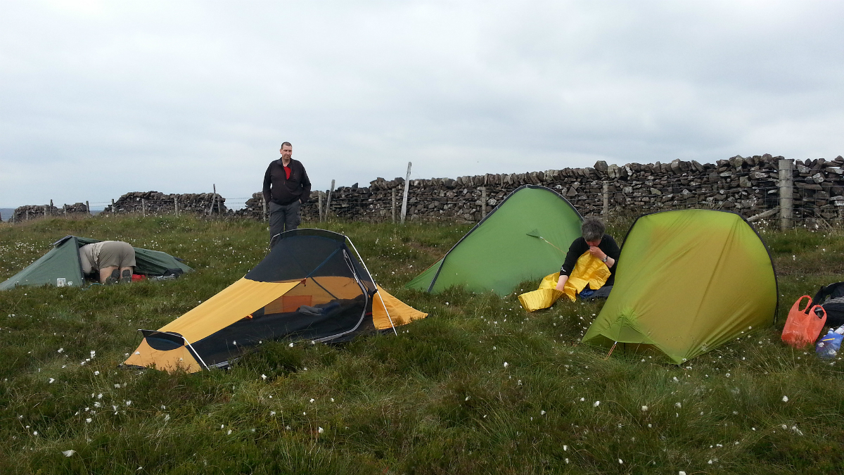 Camping at Burbage Edge