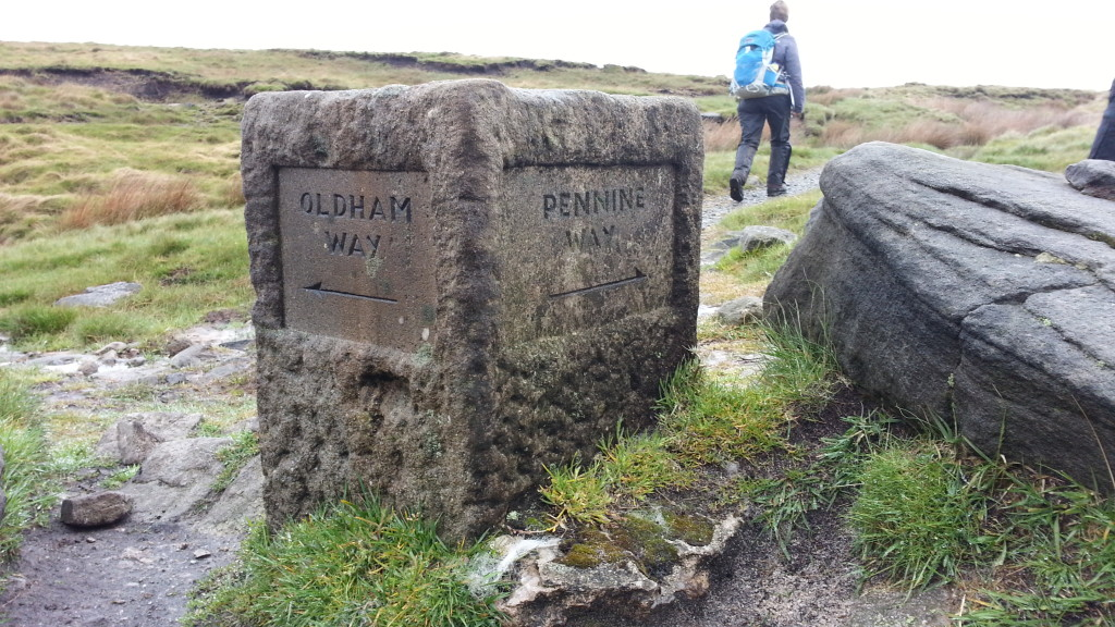 Pennine/Oldham Way marker