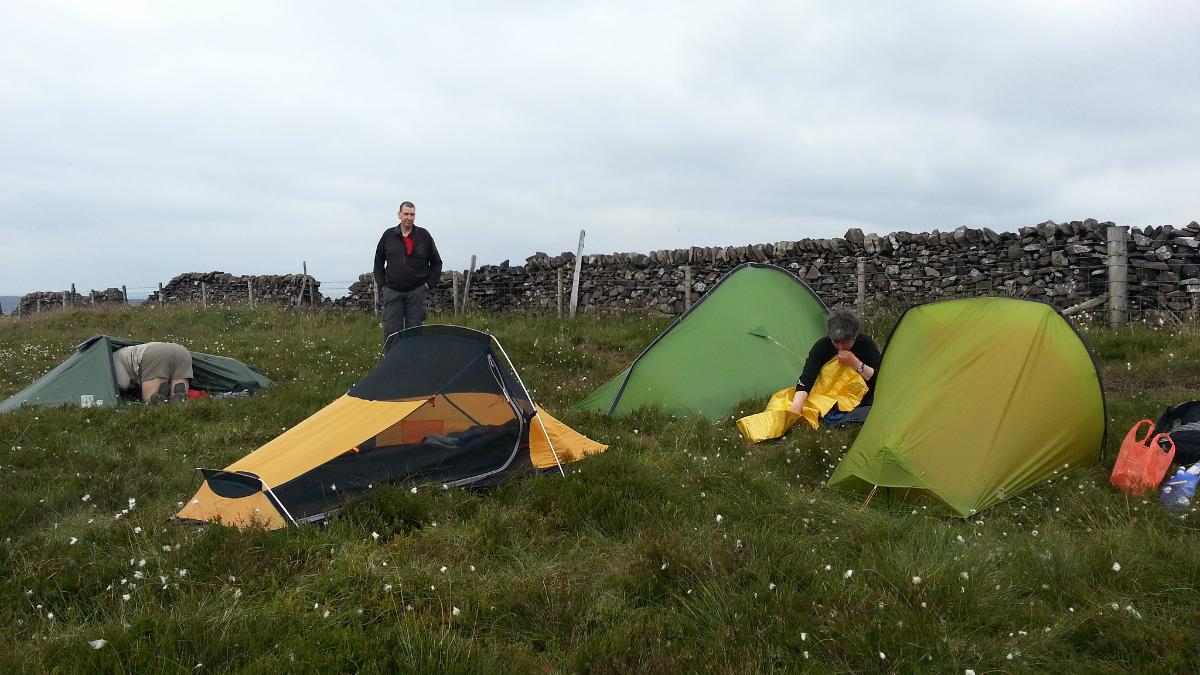Camping at Burbage Edge