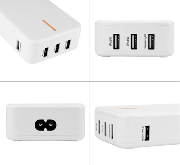 Bolse NewPower 40W (5V/8A) 5-Port USB Wall/Desktop charger