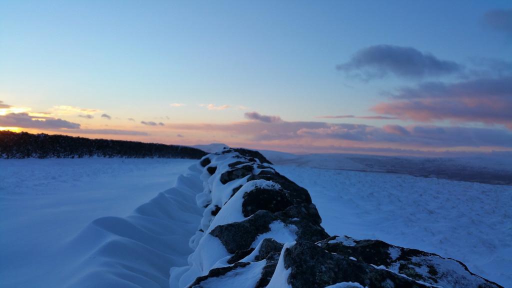 snow banked walls